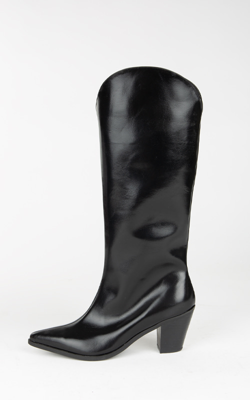 Leather Long Boots_Black