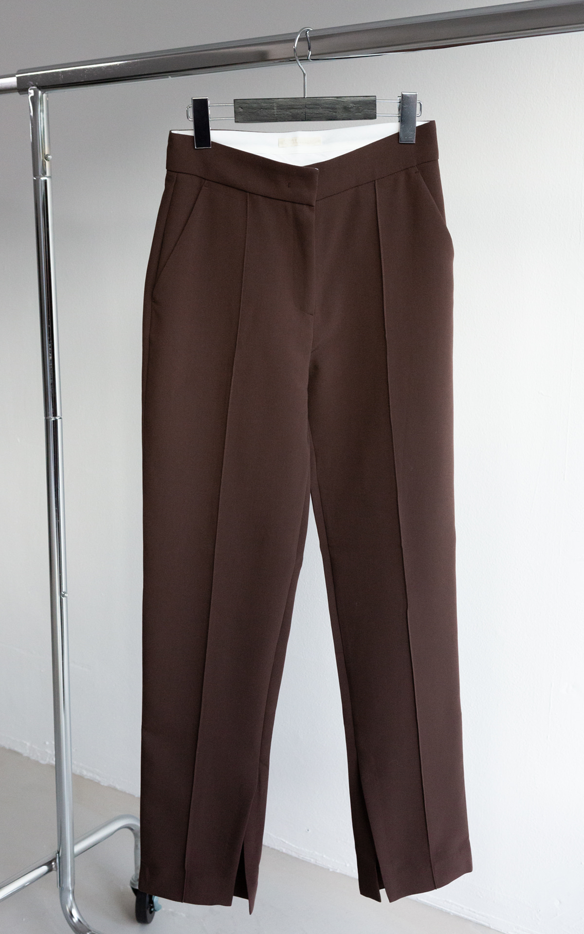 Pintuck Slit Slacks