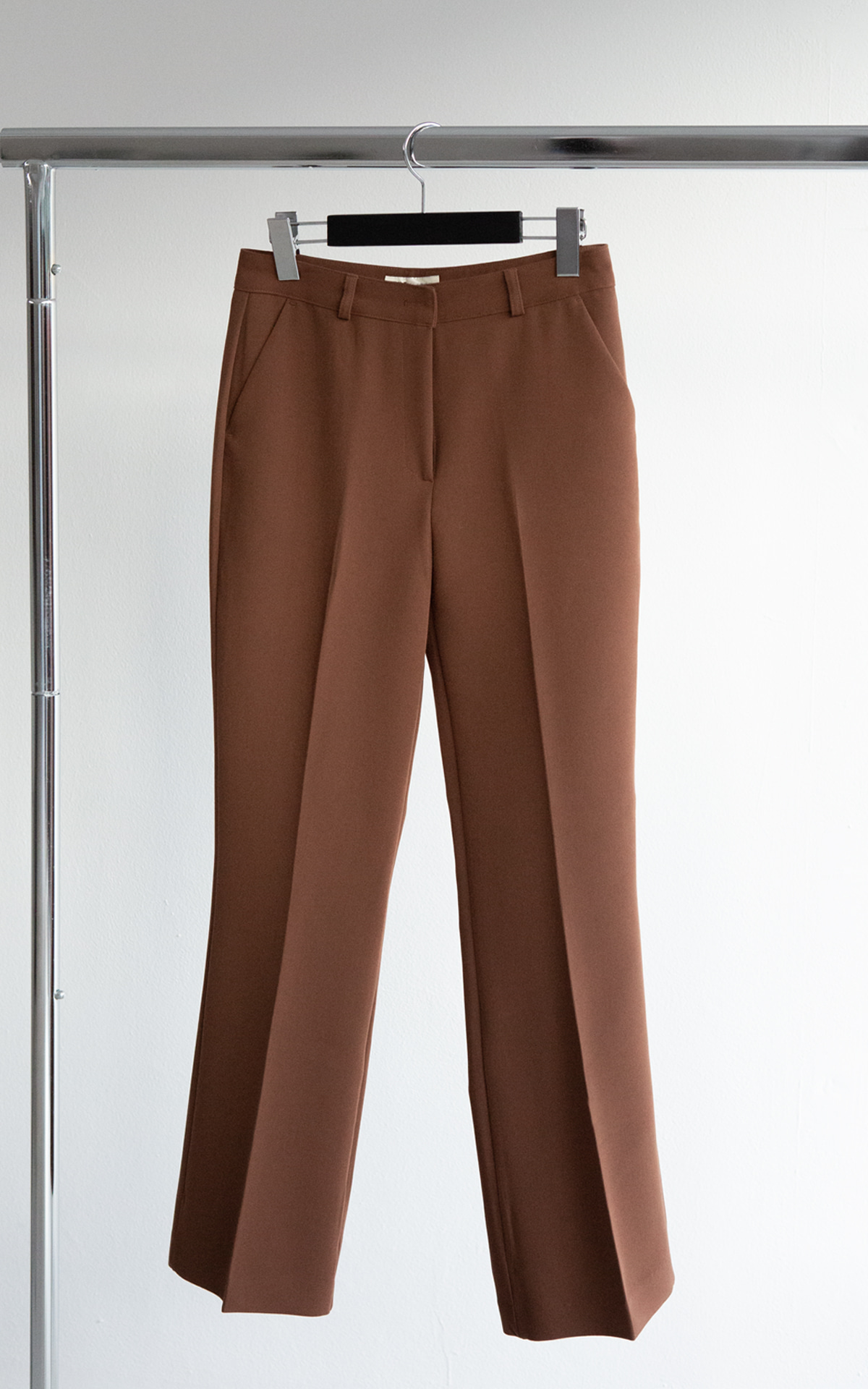 Boots-Cut Simple Slacks_Brown