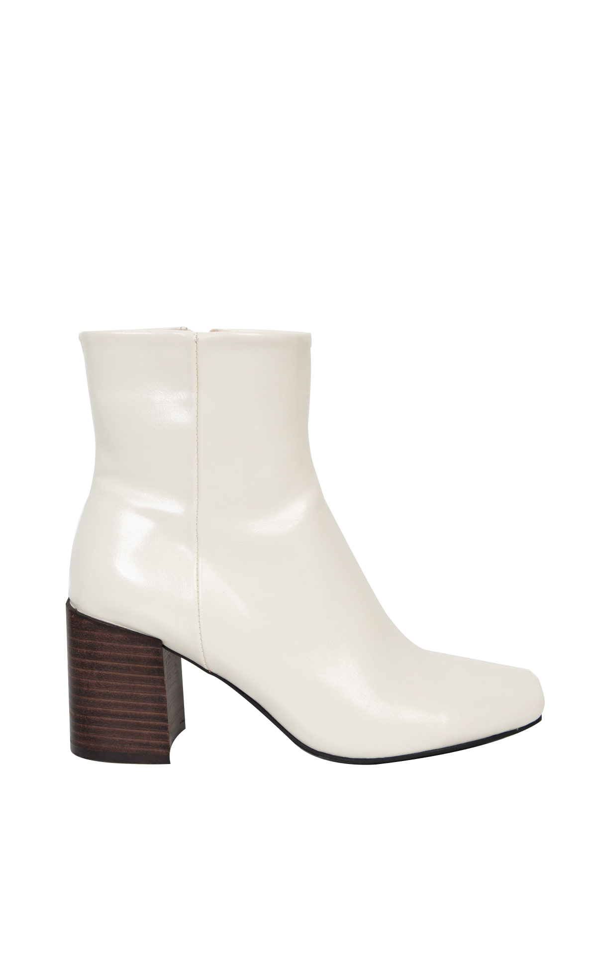 Square-Toe Ankle Boots_Ivory