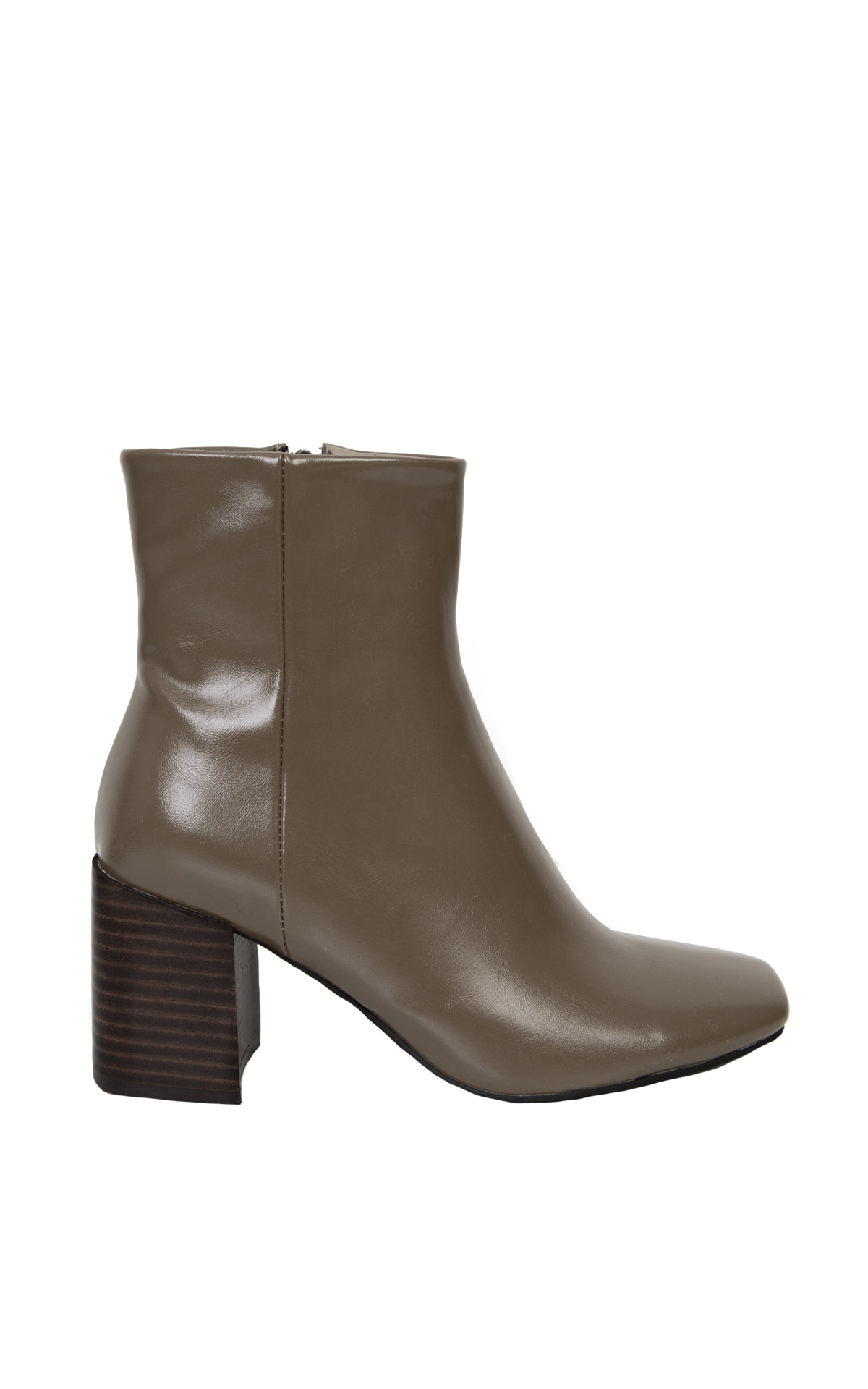 Square-Toe Ankle Boots_Mocha