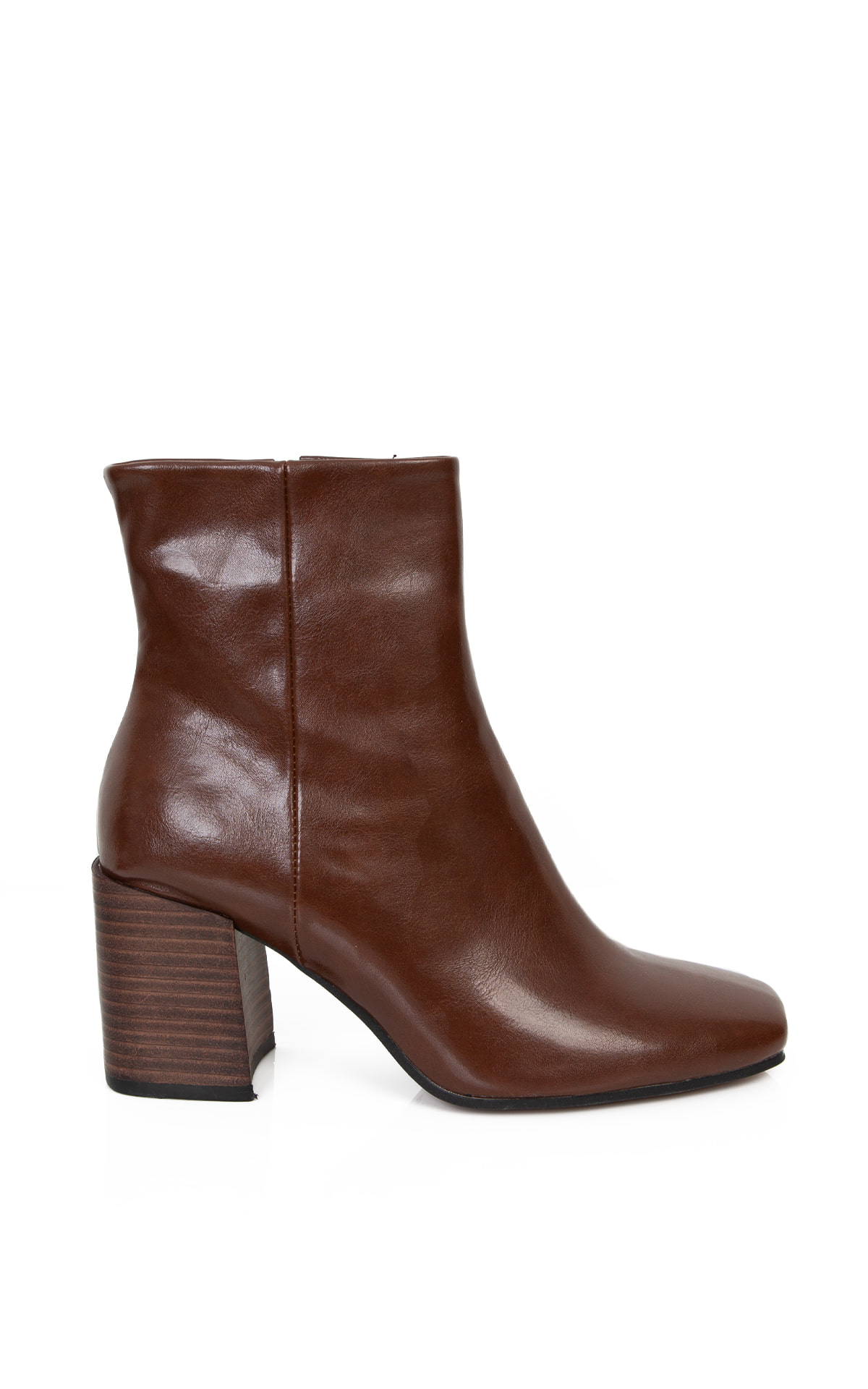 Square-Toe Ankle Boots_Brown